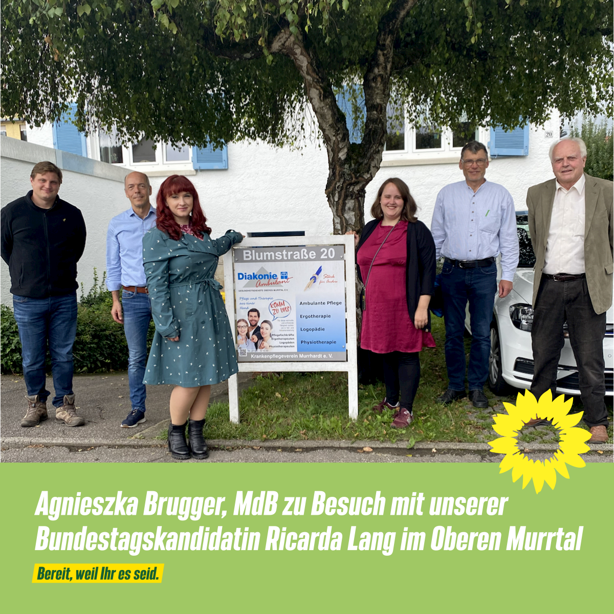 Agnieszka Brugger, MdB zu Besuch im Oberen Murrtal