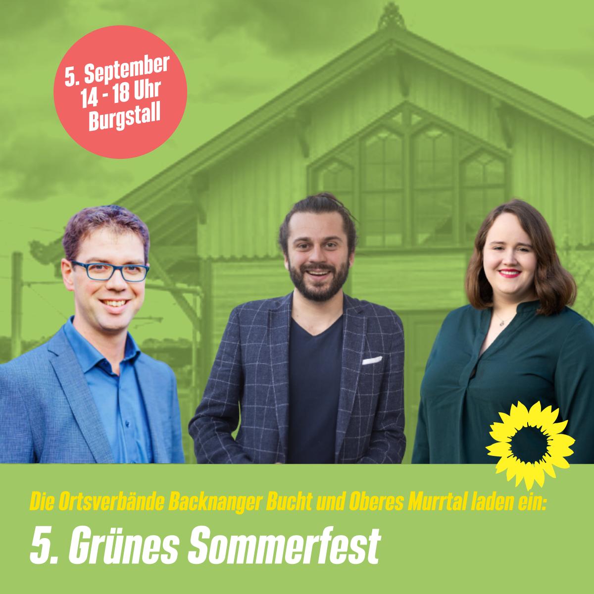 5. Grünes Sommerfest der Ortsverbände Backnanger Bucht und Oberes Murrtal